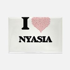 I love Nyasia (heart made from words) desi Magnets