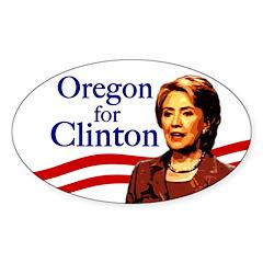 Oval Oregon for Clinton Bumper Sticker