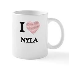 I love Nyla (heart made from words) design Mugs
