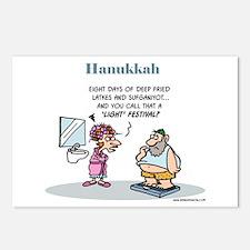 Hanukkah Festival Postcards (package Of 8)