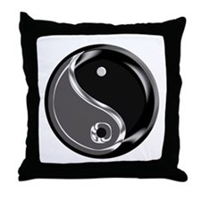 Yin Yang for balance. Throw Pillow