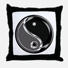 Yin Yang for balance. Throw Pillow
