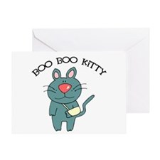 Boo Boo Kitty Cat Greeting Card
