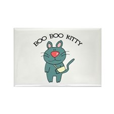 Boo Boo Kitty Cat Rectangle Magnet
