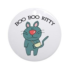 Boo Boo Kitty Cat Ornament (Round)