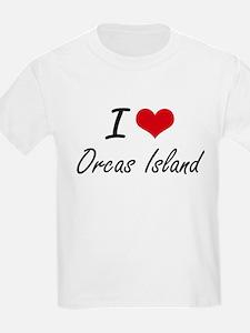 I love Orcas Island Washington artistic d T-Shirt