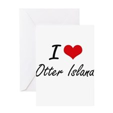 I love Otter Island Washington art Greeting Cards
