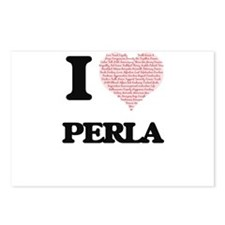 I love Perla (heart made Postcards (Package of 8)