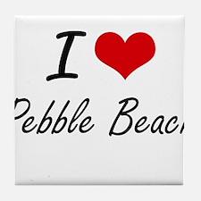 I love Pebble Beach California artis Tile Coaster