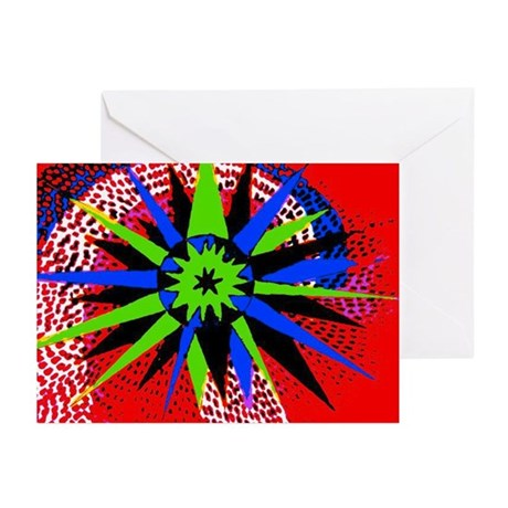 Compass Red Greeting Cards (Pk of 10)