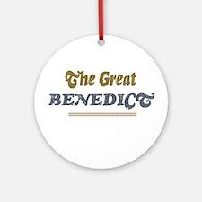 Benedict Ornament (Round)