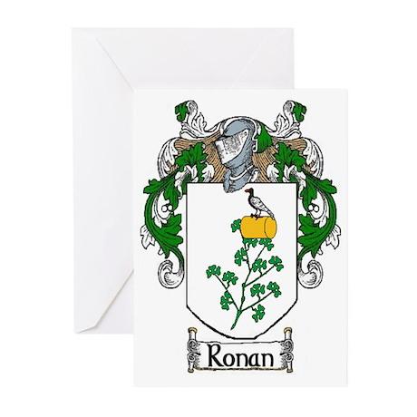 Ronan Coat of Arms Greeting Cards (Pk of 20)