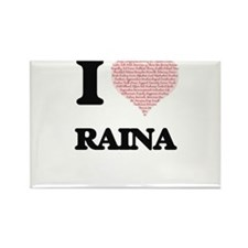 I love Raina (heart made from words) desig Magnets