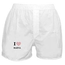 I love Raina (heart made from words) Boxer Shorts