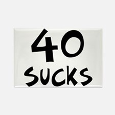 40th birthday 40 sucks Rectangle Magnet