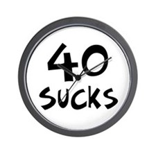 40th birthday 40 sucks Wall Clock