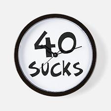 40th birthday 40 sucks Wall Clock