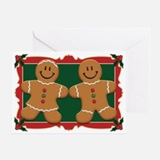 Gingerbread Couple Greeting Card