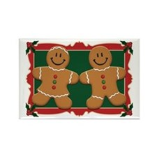 Gingerbread Couple Rectangle Magnet (100 pack)