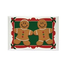 Gingerbread Couple Rectangle Magnet