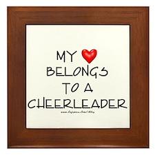 Cheerleader Love Framed Tile