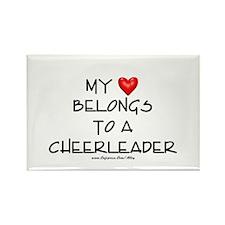 Cheerleader Love Rectangle Magnet