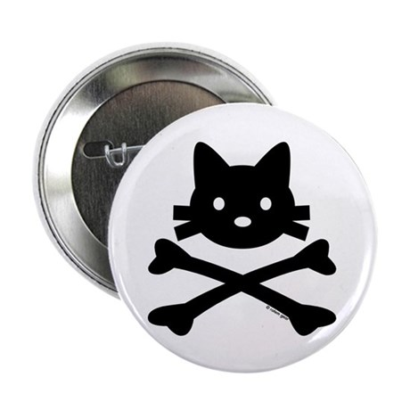 """Kitty X-Bones by Rotem Gear 2.25"""" Button (100 pack"""