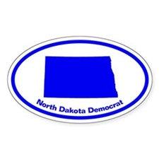 North Dakota BLUE STATE Oval Decal