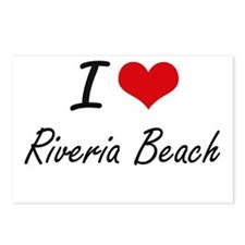 I love Riveria Beach Cali Postcards (Package of 8)
