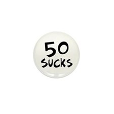 50th birthday 50 sucks Mini Button (10 pack)