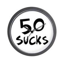 50th birthday 50 sucks Wall Clock