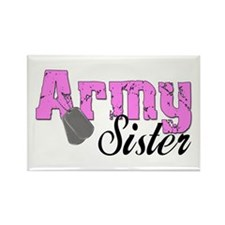 Army Sister Rectangle Magnet