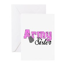 Army Sister Greeting Cards (Pk of 10)