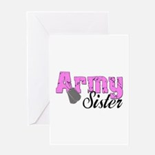 Army Sister Greeting Card