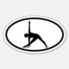 Yoga Half-Moon Oval Decal
