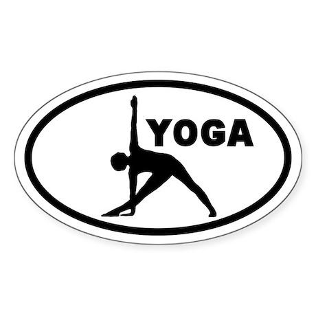 Yoga Pose Oval Sticker