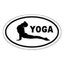 Yoga Upward Facing Dog Oval Decal
