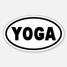 Basic Yoga Oval Decal