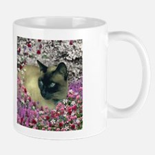 Stella Siamese Cat Flowers Mug