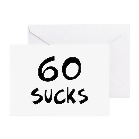 60th birthday 60 sucks Greeting Card