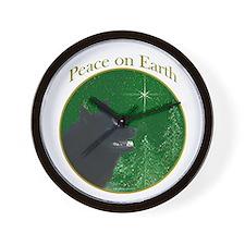 Schipperke Peace Wall Clock