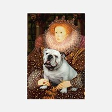 The Queen's English BUlldog Rectangle Magnet