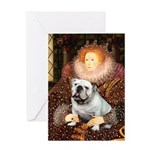 The Queen's English BUlldog Greeting Card
