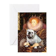 The Queen's English BUlldog Greeting Card