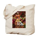 The Path / Two English Bulldogs Tote Bag