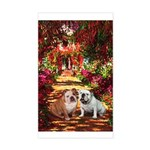 The Path / Two English Bulldogs Sticker (Rectangle