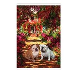 The Path / Two English Bulldogs Postcards (Package