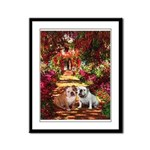 The Path / Two English Bulldogs Framed Panel Print