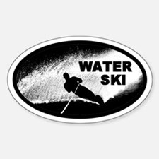 Water Skiing Oval Decal