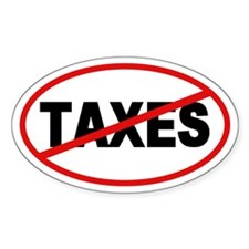 No Taxes Oval Oval Decal